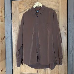 Columbia brown button down casual shirt Large